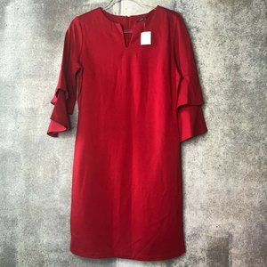 Medium J. McLaughlin Letty Holiday red bell sleeve